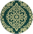 rug #945369 | round yellow traditional rug