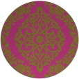 rug #945381 | round pink traditional rug