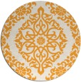 rug #945401 | round light-orange traditional rug