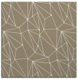 rug #945921   square mid-brown graphic rug
