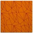 rug #945965 | square red-orange graphic rug
