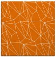 rug #945969 | square orange graphic rug