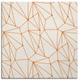 rug #946041 | square red-orange abstract rug