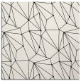 rug #946045 | square white graphic rug