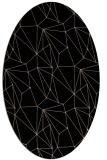 rug #946137 | oval beige abstract rug