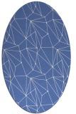 rug #946173 | oval blue abstract rug