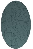 rug #946201   oval blue-green abstract rug