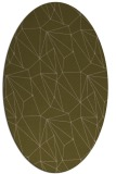 rug #946241 | oval brown graphic rug