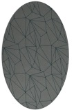 rug #946257 | oval green abstract rug