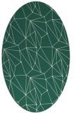 rug #946261   oval green abstract rug