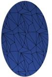 rug #946297 | oval black graphic rug