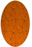 rug #946325 | oval orange graphic rug