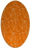 rug #946329 | oval orange abstract rug