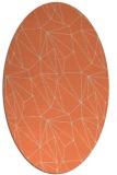 rug #946333 | oval orange graphic rug