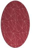 rug #946349   oval pink abstract rug