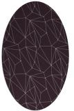 rug #946369 | oval purple abstract rug