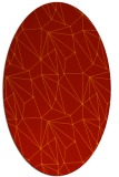 rug #946377 | oval red abstract rug
