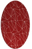 rug #946381 | oval red graphic rug