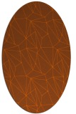 rug #946397 | oval red-orange abstract rug