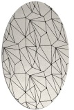 rug #946405 | oval white abstract rug