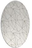 rug #946425 | oval white abstract rug