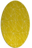 rug #946441 | oval yellow graphic rug
