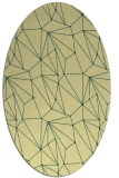 rug #946449   oval yellow graphic rug