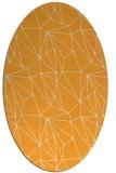 rug #946481 | oval light-orange graphic rug