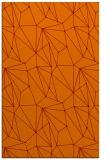 rug #946685 |  orange abstract rug