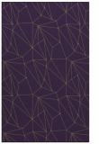 rug #946725 |  purple graphic rug