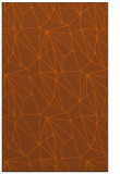 rug #946757 |  red-orange graphic rug