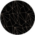 rug #946857 | round black abstract rug
