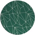 rug #946981 | round green abstract rug