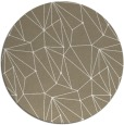 rug #947001 | round white abstract rug