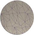 rug #947029 | round purple rug