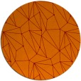rug #947045 | round orange abstract rug