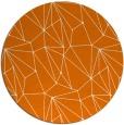 rug #947049 | round orange abstract rug