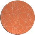 rug #947053 | round orange graphic rug