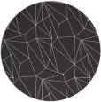 rug #947057 | round orange graphic rug