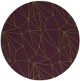 rug #947081 | round green abstract rug