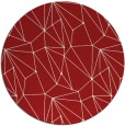 rug #947101 | round red graphic rug