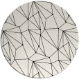 rug #947125 | round black abstract rug