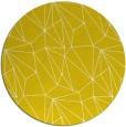 rug #947161 | round yellow graphic rug