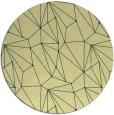 rug #947169 | round yellow abstract rug