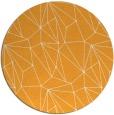 rug #947201 | round light-orange abstract rug