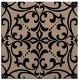 rug #949377 | square black damask rug