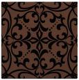 rug #949381 | square black damask rug
