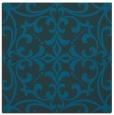 rug #949433 | square blue-green damask rug