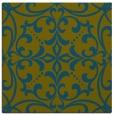 rug #949445 | square blue-green damask rug