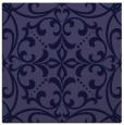 rug #949453 | square blue-violet damask rug